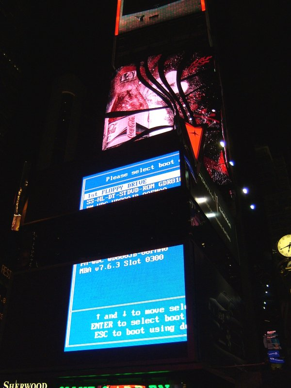 Times Square Billboard BIOS