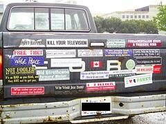 Bumper sticker road rage