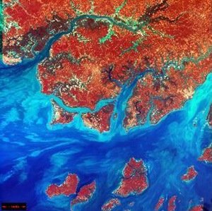 abstract satellite images